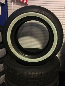 1 P225 75r 15 Inch White Wall Tire 1 1 4 Ww Band Thick Fat Wide Gangster New