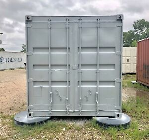 20 Foot Shipping Storage Container Build Out Shelves Cabinets Tool Boxes Lights