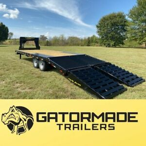 Gooseneck Trailer Brand New 2019 Gator Flatbed Gooseneck Equipment Trailer
