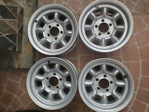 Rare New Authentic English Made Minilite Magnesium Wheels 14x7