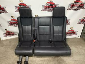 2007 2017 Expedition Navigator 3rd Third Row Power Seats Black Leather W motor