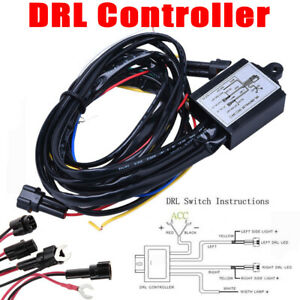 12v30w Car Led Daytime Running Light Automatic On Off Controller Drl Relay Kits