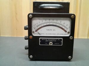 Weston Electrical Instruments Model 433 0 600 Ac Volt Meter