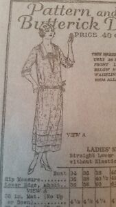 Rare Antique Sewing Pattern 5364 1918 1923