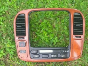 1998 2002 Oem Lexus Lx470 Wood Grain Ac Radio Navigation Center Bezel Dash Trim