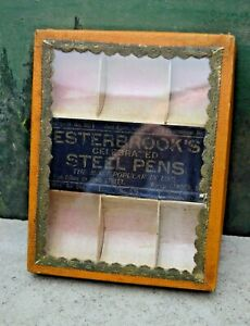 Small Antique General Store Pen Tip Counter Display Case Easterbrook S Steel