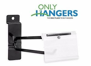 Only Hangers 12 Black Slatwall Scanner Hooks W Label Holders box Of 25