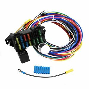 Universal 12 Circuit Wiring Wires Harness For Muscle Car Hot Rod Street Rod Xl