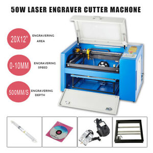 50w Co2 Laser Engraving Machine Engraver Cutter 20 12 300x500 W rotary 110v