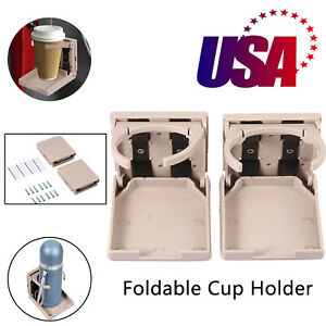 2 Packs Adjustable Folding Drinking Cup Holder Universal For Car Truck Boat Van