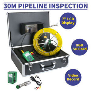 30m Sewer Waterproof Camera Pipe Pipeline Drain Inspection System Hd 7 lcd Dvr