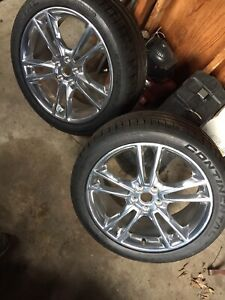 2 2014 2015 Mustang Wheels Tires 255 40 19 19 Inch Extreme Contact Continental