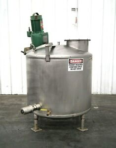 Mo 2991 Stainless Steel 200 Gallon Mixing Tank 1 4 Hp 1725 1450 Rpm 316 Ss