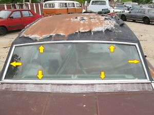 1966 Ford Thunderbird Town Hardtop Back Glass Window Moulding
