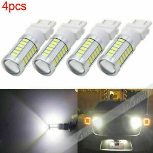4x White 3157 3156 33smd 5730 Led Car Tail Backup Turn Signal Rear Light Bulb Us