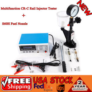 600 Bar Multi Function Cr c Common Rail Injector Tester Fuel Bar s60h Nozzle Usa