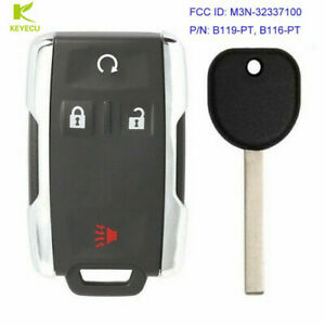 Replacement Keyless Key Fob Remote For Chevrolet Gmc Sierra M3n 32337100 B116 Pt