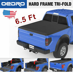 Taoautoparts Tri fold Tonneau Cover Fit For 2015 2018 Ford F 150 Truck 6 5 Bed