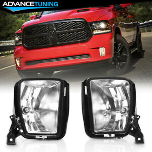 Fits13 18 Ram 1500 Oe Front Fog Lights Assembly 9006 Bulbs Pair Left Right