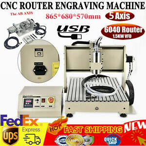 6040 Cnc Router 5 Axis Engraver Engraving Machine Precision Ball Screw 1500w