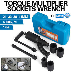 1 64 Torque Multiplier Set Wrench Lug Nut W 4 Sockets Rv Remover Extension