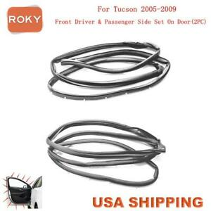 2 Pc Front Door Opening Weatherstrip Seal For Hyundai Tucson 2005 2009