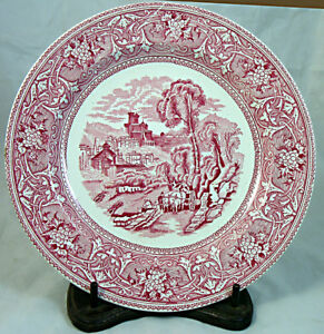 8 1 2 Pink White Staffordshire Plate Lerici Gulf Of Spezia Italy By Malkin