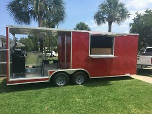 2019 Brand New 8 5 X 20 Tandem Bbq Concession Mobile Food Trailer W Equip Fl