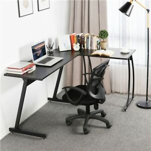 L shape Computer Desk Wood Coner Study Writing Table Pc Laptop Workstation Home