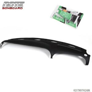 For 98 02 Ram Pickup Truck Black Molded Plastic Dash Board Pad Cap Cover Overlay