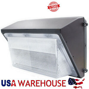 125w Led Wall Pack Light Dusk To Dawn With Photocell 5000k Outdoor Commercial