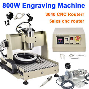 5 Axis Cnc 3040 Router Engraving Machine Engraver 800w Vfd Usb Milling Driling