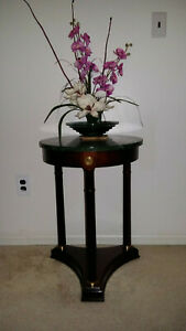 Beautiful Bombay Company Green Marble Top End Plant Table