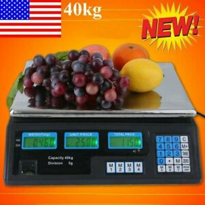 40kg Digital Weight Scale Price Computing Retail Food Meat Scale Count Scale Ba