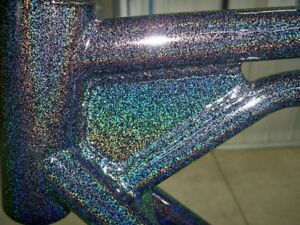 Higloss Sparkle Holographic Black Powder Coat Paint 6lbs 2 7kg Free Shipping