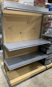 Gondola Shelving Double Sided Section 48 Wide 68 Tall Lozier Rolling
