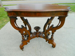 Walnut Victorian Trutle Top Table