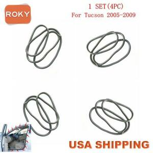 4pc Rubber Seal Weather Strip On Body Frame For Hyundai Tucson 2005 2009