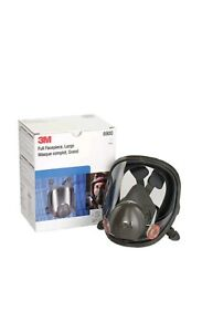 Genuine New 3m Mask Large Full Face Respirator 6900 W Two Cartridges