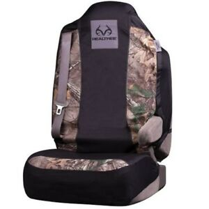 Realtree Xtra Universal Seat Car Truck Cover Black Camo W Free Air Freshener
