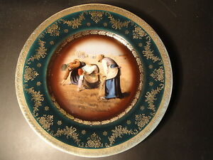 Beautiful Royal Vienna Portrait Plate The Gleaners After Millet