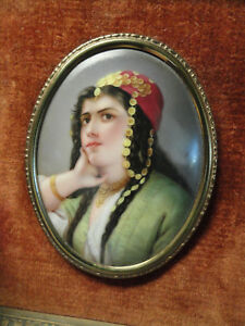 Antique German Porcelain Plaque Hutschenreuther Kpm