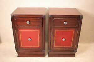 Pair Of Chippendale Mahogany Bedside Tables Nightstands Circa 1930