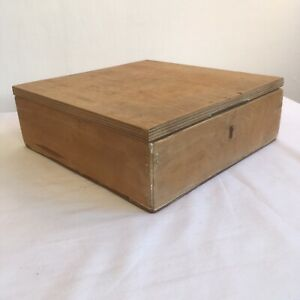 Vintage Wooden Handmade Box Compartments Trinkets Jewellery Sewing