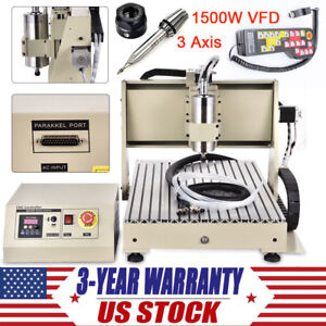 3 Axis Cnc Router Engraver 1500w Engraving Milling Machine handwheel Controller