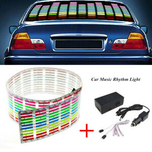 Car Sticker Music Rhythm Led Flash Light Lamp Sound Activated Equalizer Magical