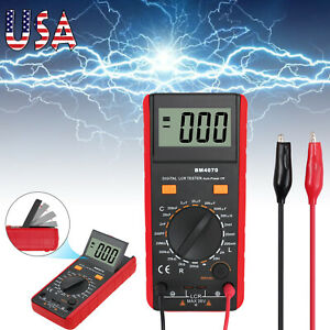 Digital Capacitance Inductance Resistance Multimeter Tester With Crocodile Clip