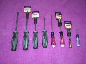 New Craftsman Screwdrivers Lot Of 8