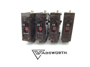 4 Pack Wadsworth 15 Amp Circuit Breaker Type A 120v Single Pole X4
