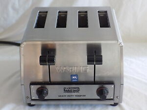 Waring Commercial Heavy Duty 4 Slice Toaster Wct800 120 Volts
